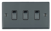 Hamilton Hartland Black Nickel 3G Trailing Edge Slave Touch Multi-Way Dimmer 783XTSBK-B