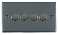 Hamilton Hartland Black Nickel 2G LED Dimmer 78X2LEDITB100