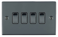 Hamilton Hartland Black Nickel 4G Trailing Edge Slave Touch Multi-Way Dimmer 784XTSBK-B