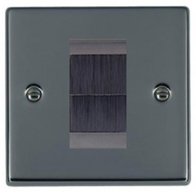 Hamilton Hartland Black Nickel Brush Outlet Plate 78EURO1BR