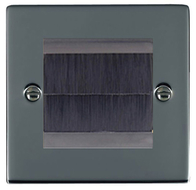 Hamilton Hartland Black Nickel Brush Outlet Plate 78EURO2BR