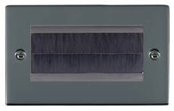 Hamilton Hartland Black Nickel Double Brush Outlet Plate 78EURO4BR