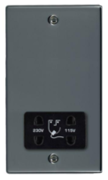 Hamilton Hartland Black Nickel Dual Voltage Shaver Socket 78SHSB
