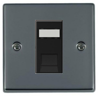 Hamilton Hartland Black Nickel Module RJ45 Cat6 Socket 78EURO1CAT6