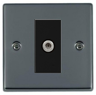 Hamilton Hartland Black Nickel Module Satellite Socket 78EURO1SAT