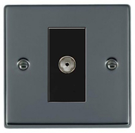 Hamilton Hartland Black Nickel Module TV Socket 78EURO1TV