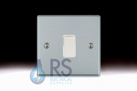 Hamilton Hartland Bright Chrome R21 Light Switch 1G 77R21