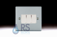 Hamilton Hartland Bright Chrome R23 Light Switch 3G 77R23