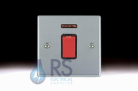 Hamilton Hartland Satin Chrome 45A DP Switch Neon 7645N