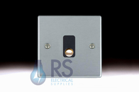 Hamilton Hartland Satin Chrome Flex Outlet Plate 76CO