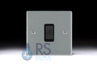 Hamilton Hartland Satin Chrome R21 Light Switch 1G 76R21