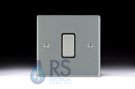 Hamilton Hartland Satin Chrome R31 Intermediate Switch 1G Colour Coded Rocker 76R31SC