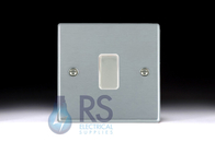Hamilton Hartland Satin Chrome R21 Light Switch 1G Colour Coded Rocker 76R21SC