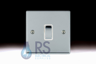 Hamilton Hartland Bright Chrome R21 Light Switch 1G Colour Coded Rocker 77R21BC