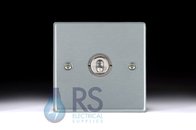 Hamilton Hartland Satin Chrome T21 Toggle Light Switch 1G 76T21