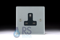 Hamilton Hartland Satin Chrome Unswitched 13A Socket 76US13