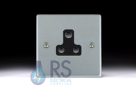 Hamilton Hartland Satin Chrome Unswitched 2A Socket 76US2