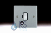 Hamilton Hartland Satin Chrome Unswitched Spur Flex Outlet Colour Coded Rocker 76FOCSC