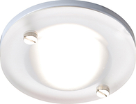 IP65 GU10 50W Bathroom Round Frosted Downlight in White CH14GURF