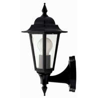 JCC JC32010BLK Montella Wall Lantern With Bottom Arm Black