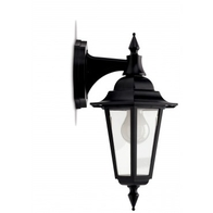 JCC JC32011BLK Montella Wall Lantern With Top Arm Black