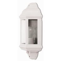 JCC JC32017WH Montella Half Wall Lantern With PIR White
