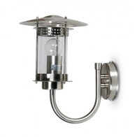 JCC JC98002SS Excelsior Wall Lantern Bottom Arm Stainless Steel