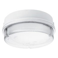 JCC RadiaLED JC23211WPR LED Bulkhead 14W with Integral LED & Microwave Sensor Prismatic Diffuser