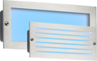 Knightsbridge BLED5SB 230V IP54 5W Blue LED Brick Light Brushed Steel Fascia