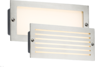 Knightsbridge BLED5SW 230V IP54 5W White LED Brick Light Brushed Steel Fascia