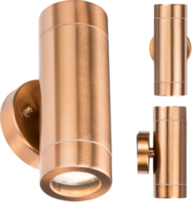 Knightsbridge WALL2LC IP65 GU10  Up/Down Wall Light Copper