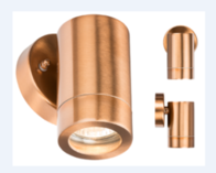Knightsbridge WALL1LC 230V IP65 GU10 35W FixedWall Light Copper Colour