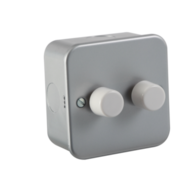 Knightsbridge 2Gang 2Way Metal Clad M2162 60-400w Dimmer Switch