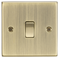 Knightsbridge Antique Brass 1G 2W Switch CS2AB