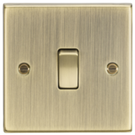 Knightsbridge Antique Brass 20A 1G DP Switch CS834AB