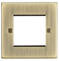 Knightsbridge Antique Brass 2G Modular Faceplate CS2GAB