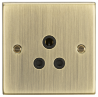 Knightsbridge Antique Brass 5A Socket CS5AAB
