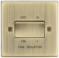 Knightsbridge Antique Brass Fan Isolator Switch CS11AB