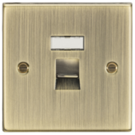 Knightsbridge Antique Brass RJ45 CAT5E Network Outlet CS45AB