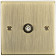 Knightsbridge Antique Brass SAT/TV Outlet CS015AB