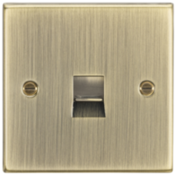 Knightsbridge Antique Brass Telephone Extension Outlet CS74AB