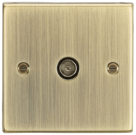 Knightsbridge Antique Brass TV Outlet CS010AB