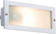 Knightsbridge Bricklight comes with Louvred and Plain White Cover. BL01W