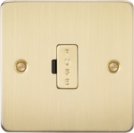 Knightsbridge Brushed Brass Flat Plate 13A Fused Spur FP6000BB