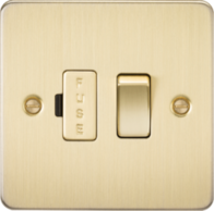 Knightsbridge Brushed Brass Flat Plate 13A Switched Fused Spur Unit FP6300BB