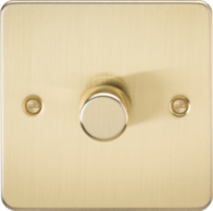 Knightsbridge Brushed Brass Flat Plate 1G Trailing Edge Dimmer FP2181BB