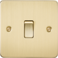 Knightsbridge Brushed Brass Flat Plate 20A 1G DP Switch FP8341BB