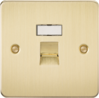 Knightsbridge Brushed Brass Flat Plate RJ45 CAT5E Network Outlet  FPRJ45BB