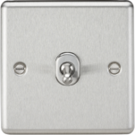 Knightsbridge Brushed Chrome 1G 2W Toggle Switch CLTOG1BC