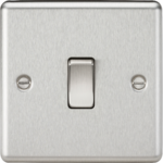 Knightsbridge Brushed Chrome 1G 2W Light Switch CL2BC
